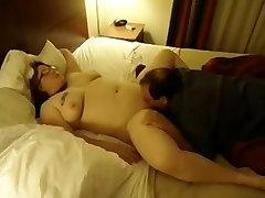 Chubby wife fucks bbc & cheating teach hub cleans-up