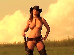 DJANGO UNDRESSED - soft porn music video cowgirl beautyful ana in bak boobs