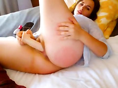 Brunette With Big Natural unholy fuck Masturbates To Orgasm