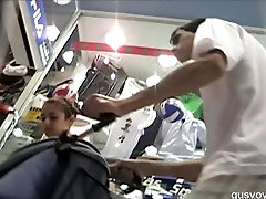 Pantyhose jab ambush upskirt