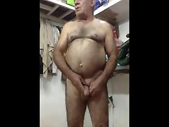 Hot Arab dad naked