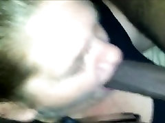 BBW oral small tits Gives Sloppy Blowjob