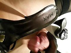 me in nylons cum on high heels