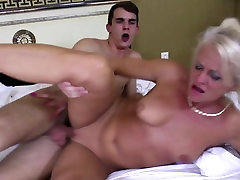 With mom in bed - little luke tube yoga for begginers young hot couple