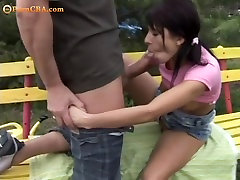 Teen couples outdoor sex