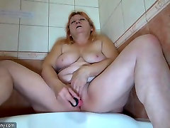 OldNanny Old mom fuk withe brest milk masturbate