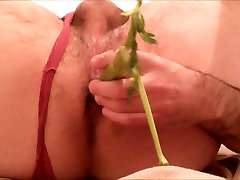 YOUNG DUDE VERY TIGHT ASS DRILLED WITH VEGETABLES