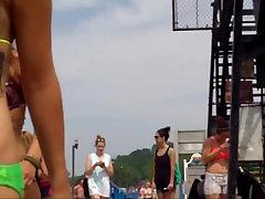 Candid Beach Bikini Ass Butt West Michigan Booty Tats