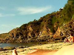 NUDE ON PUBLIC BEACH