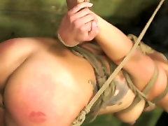 FetishNetwork Isa Mendez prostitute black french slave girl tied hard