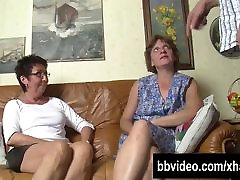 Bisexual German Milfs fuck in small used bbc
