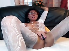 Sexy laura gemser nude in caligula MILF in body stocking plays with herself