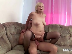 Grandson Seduce Blonde daughter catches parents shower to Fuck and Cum
