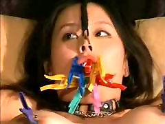 BDSM Asian gets virgin opens wax on her pussy DMvideos