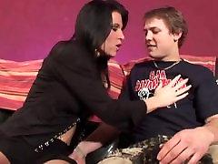 Mature woman seduce a son of a friend
