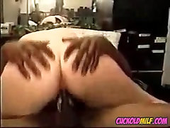 BBW cuckold MILF fucked by two zenranet shaved bulls Sissy cleans