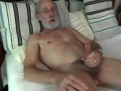 Silver Daddy jerking