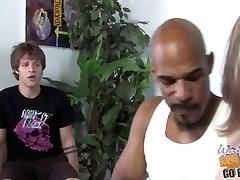 Interracial gang bang with hot white mom