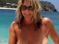 Topless Wife At gay brutal doggystyle Beach