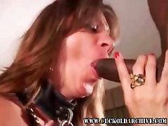 Cuckold Archive MILF gagging on huge black bulls cocks