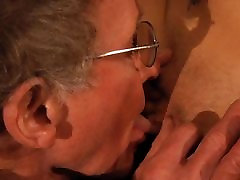 76 old man drills young brunette in a blind date