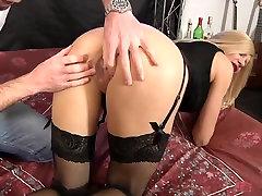 Nice Italian Milf Cristal anal fucked in stockings