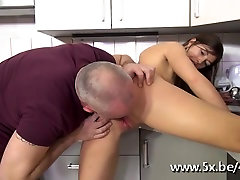 Czech brunette analfucked