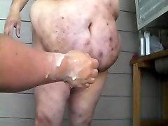 Fisting chub bear&039;s ass