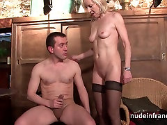 Sexy french mature deep analized with big asmana 2 mouth in a bar