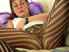 British man tease panty Georgie fingers her ass