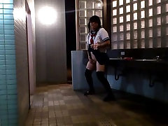 Amateur Mature Japanese CD in public