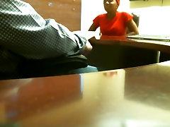 Ebony blowjob during job interview REAL
