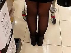 casted ebony slut at supermarket