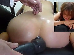 Miss April&039;s kneeling enema injection