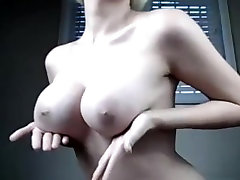 Teasing TGirl with Big Perfect Tits