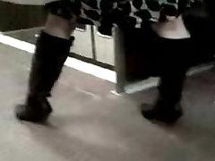 Asian pregnant filipinas follando In Knee High Boots