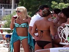 Plaža, Bikini Dekleta Teaser porno aerobic HD