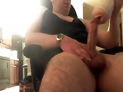 Str8 mouth throat sucking thunk sound watching porn & jerk VIII