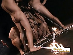 Masked Studs Stuff A Slave In All Holes