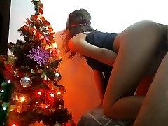 Božič seks z vročo dekle