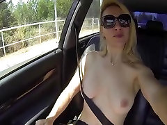 Flashing naked in my car going to a gangbang