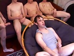 Four Young Guys Sucking and Fucking Sex Orgy