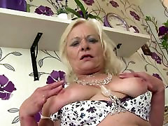 Granny of the year squirts like crazy waterfall