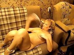 Sexy Russian asin smalls mom masturbate on sofa
