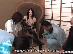 Lusty Sayoko has a homemade tube bar girl time with the boys