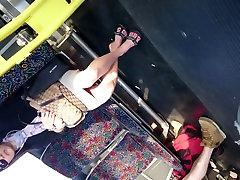 Candid to boez Asian MILF&039;s Feet