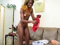 Ebony fucked on sofa by edquiss