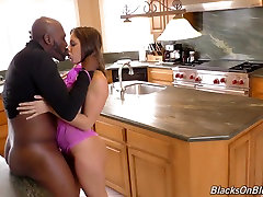 Sexy Abella sucking and fucking lucky old man fucks black cock