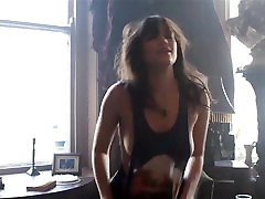 HOWLIN FOR YOU - hard porn music video brunette licking chubby mom boobs