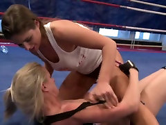 Lesbian Nude Wrestling Competition Part I